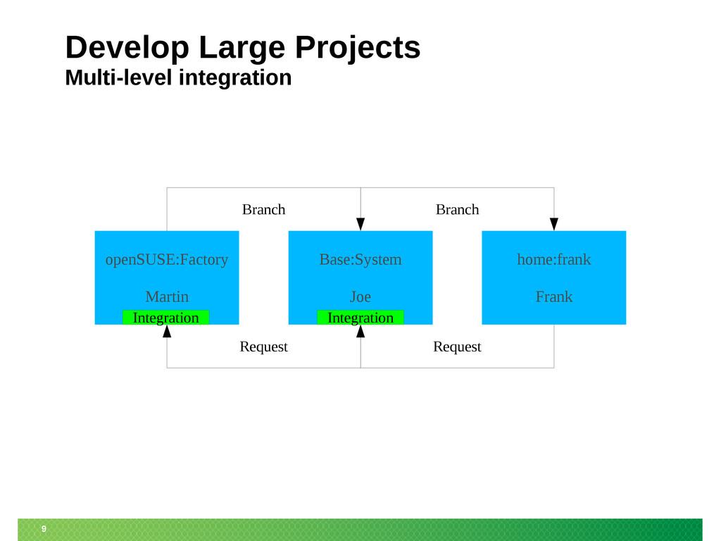 9 Develop Large Projects Multi-level integratio...