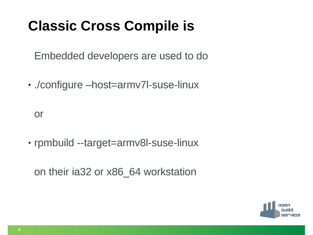 4 Classic Cross Compile is Embedded developers ...
