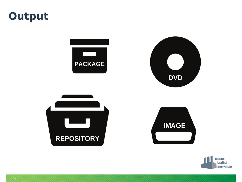 19 Output DVD IMAGE REPOSITORY PACKAGE