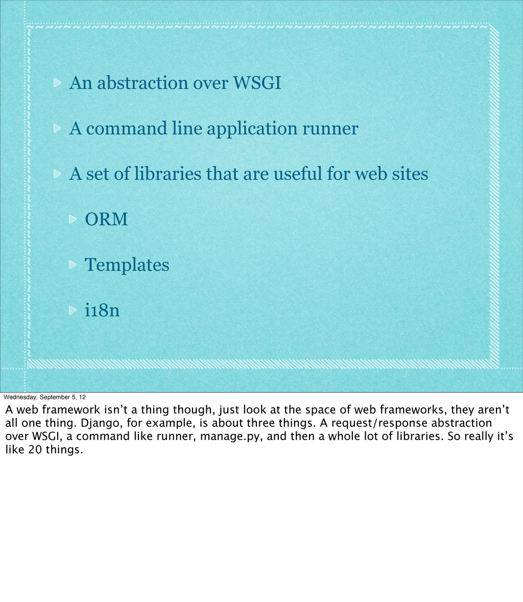 An abstraction over WSGI A command line applica...