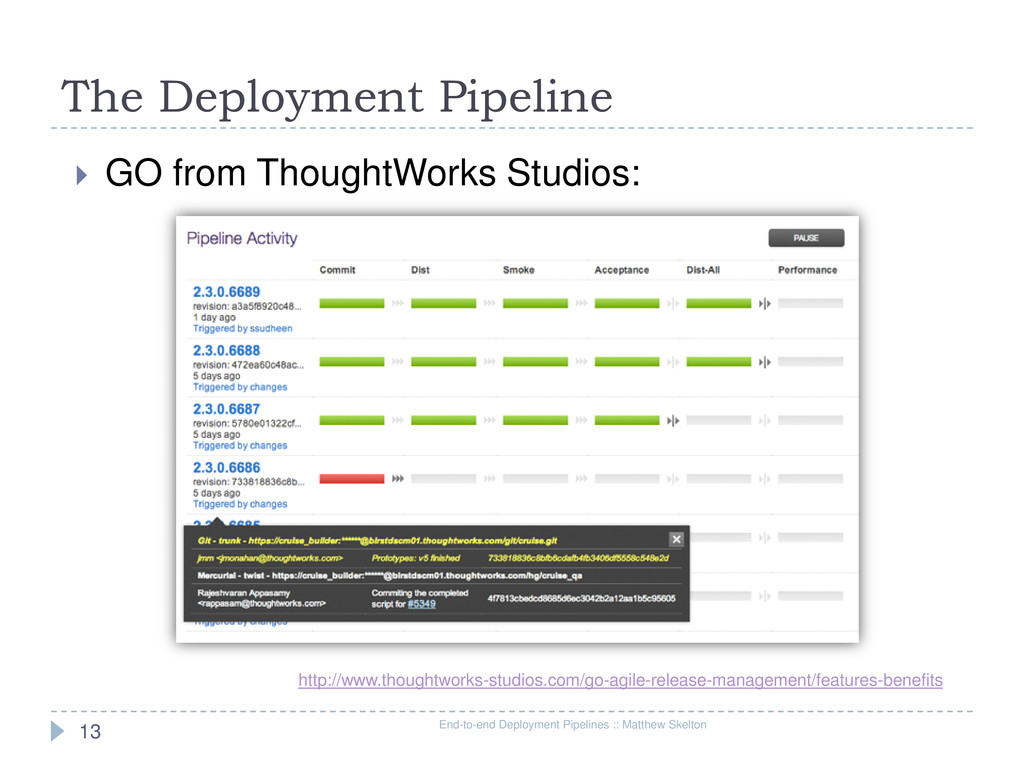 The Deployment Pipeline End-to-end Deployment P...