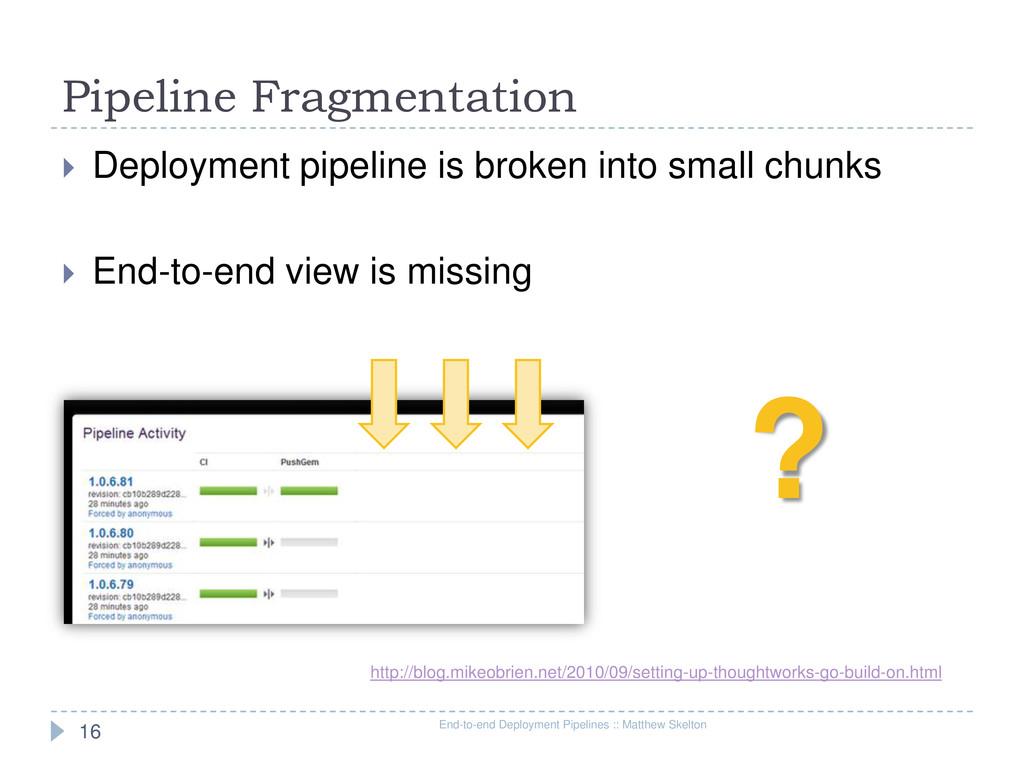 Pipeline Fragmentation End-to-end Deployment Pi...