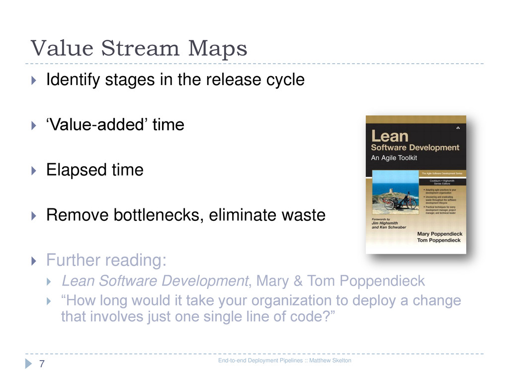Value Stream Maps End-to-end Deployment Pipelin...