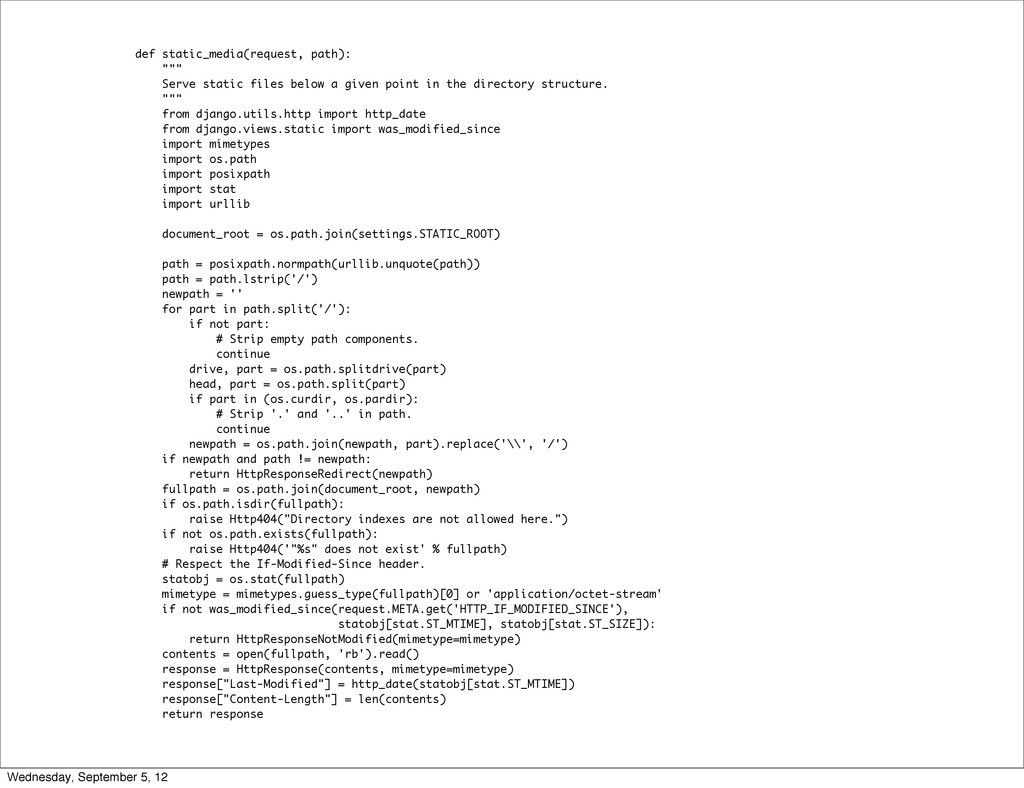 "def static_media(request, path): """""" Serve stat..."