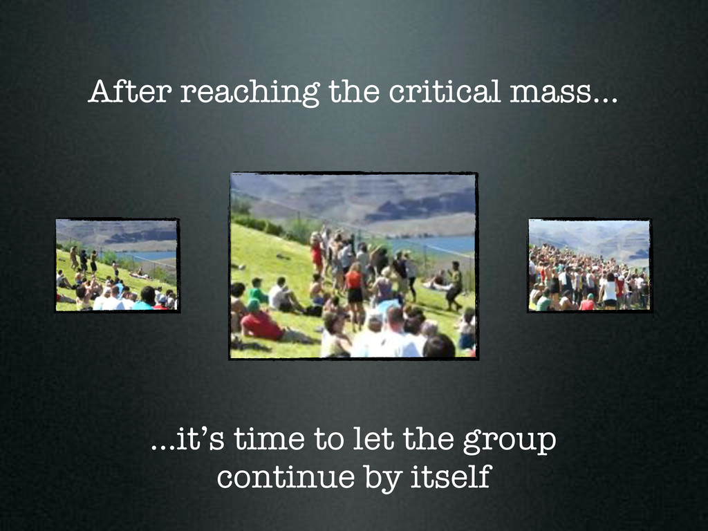 ...it's time to let the group continue by itsel...