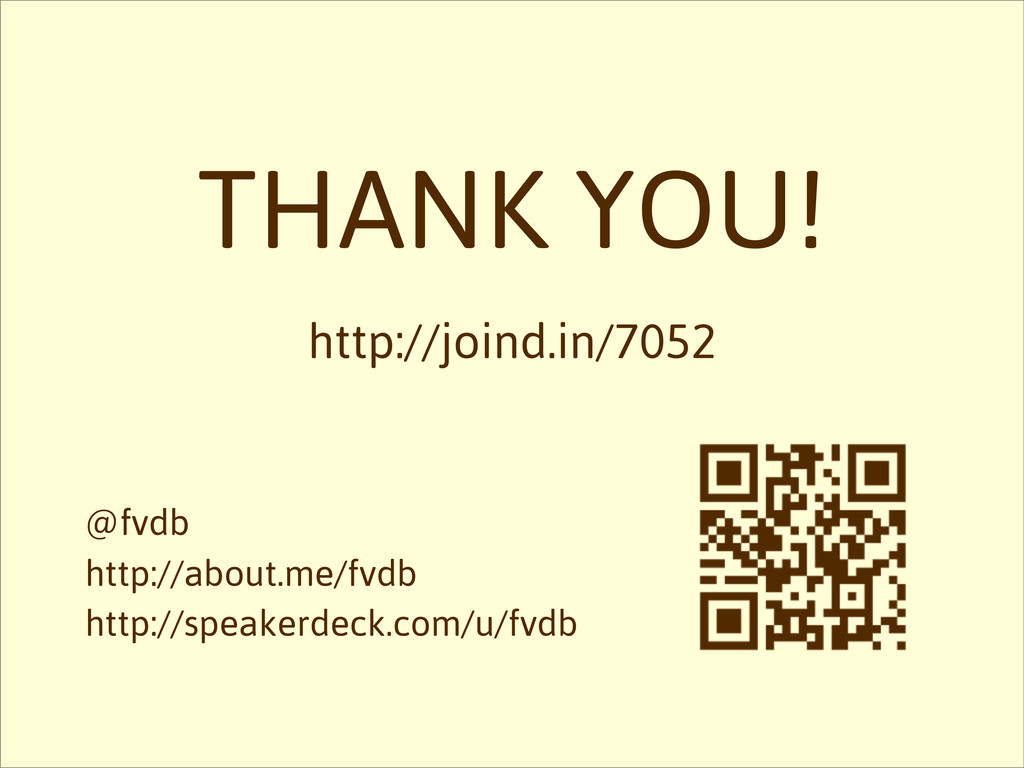 THANK YOU! http://joind.in/7052 @fvdb http://ab...