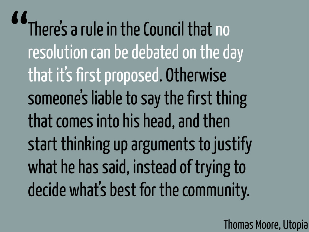 There's a rule in the Council that no resolutio...