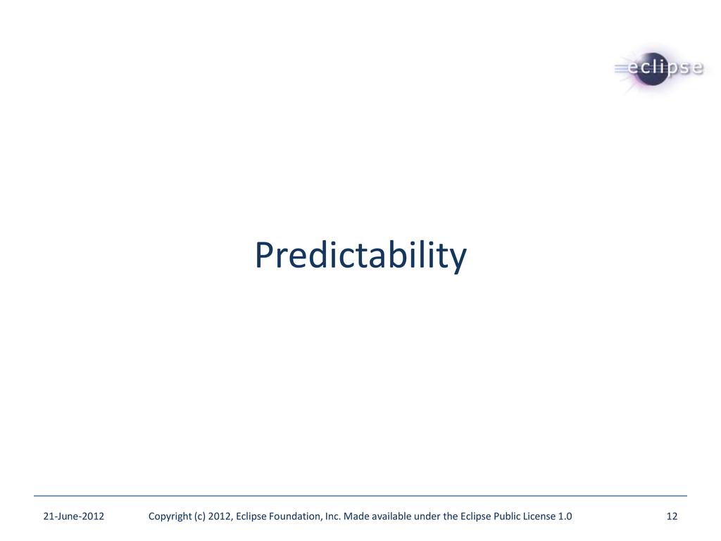 Predictability 21-June-2012 Copyright (c) 2012,...