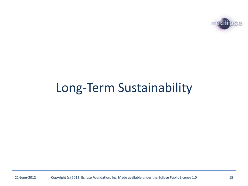 Long-Term Sustainability 21-June-2012 Copyright...