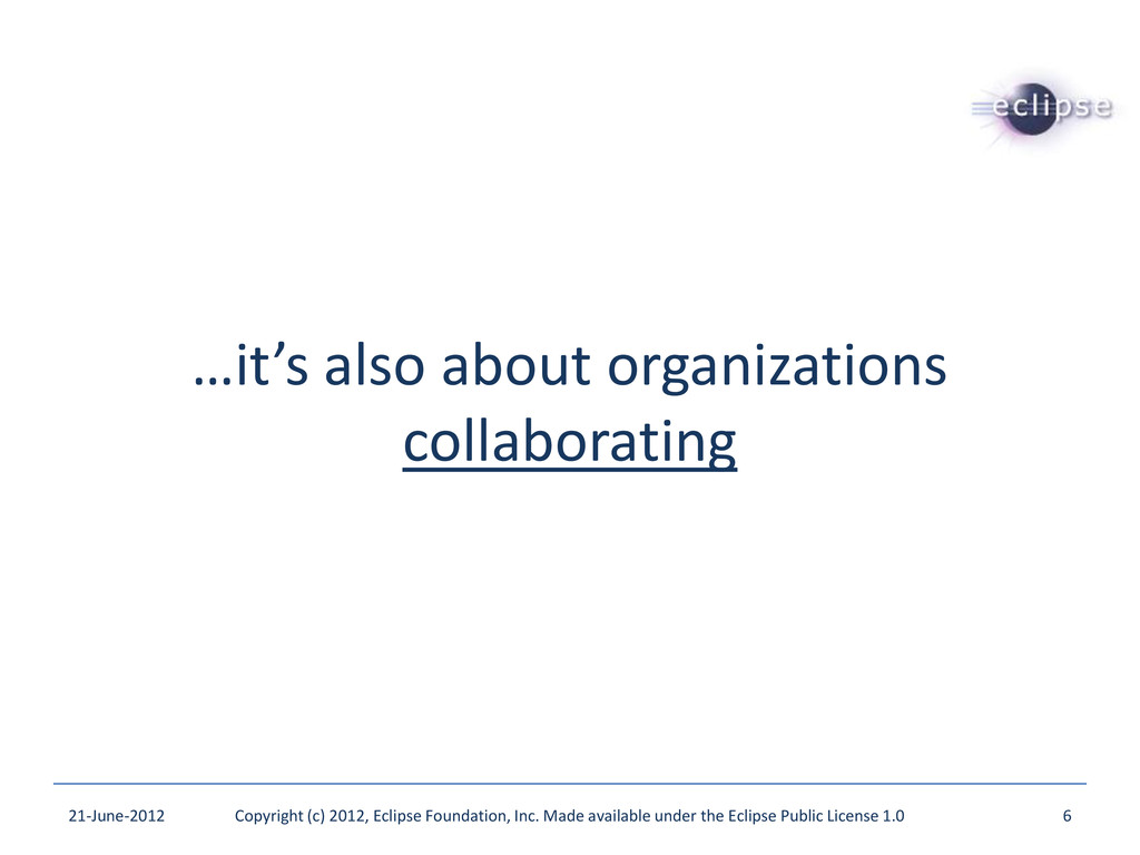 …it's also about organizations collaborating 21...