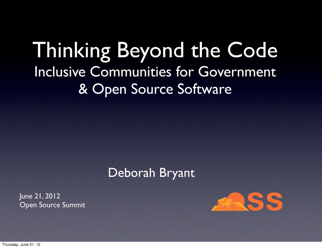 Thinking Beyond the Code Inclusive Communities ...