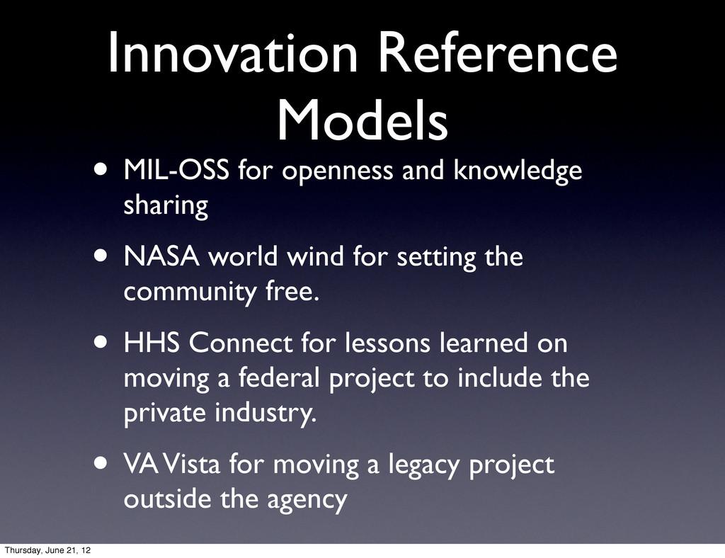 Innovation Reference Models • MIL-OSS for openn...