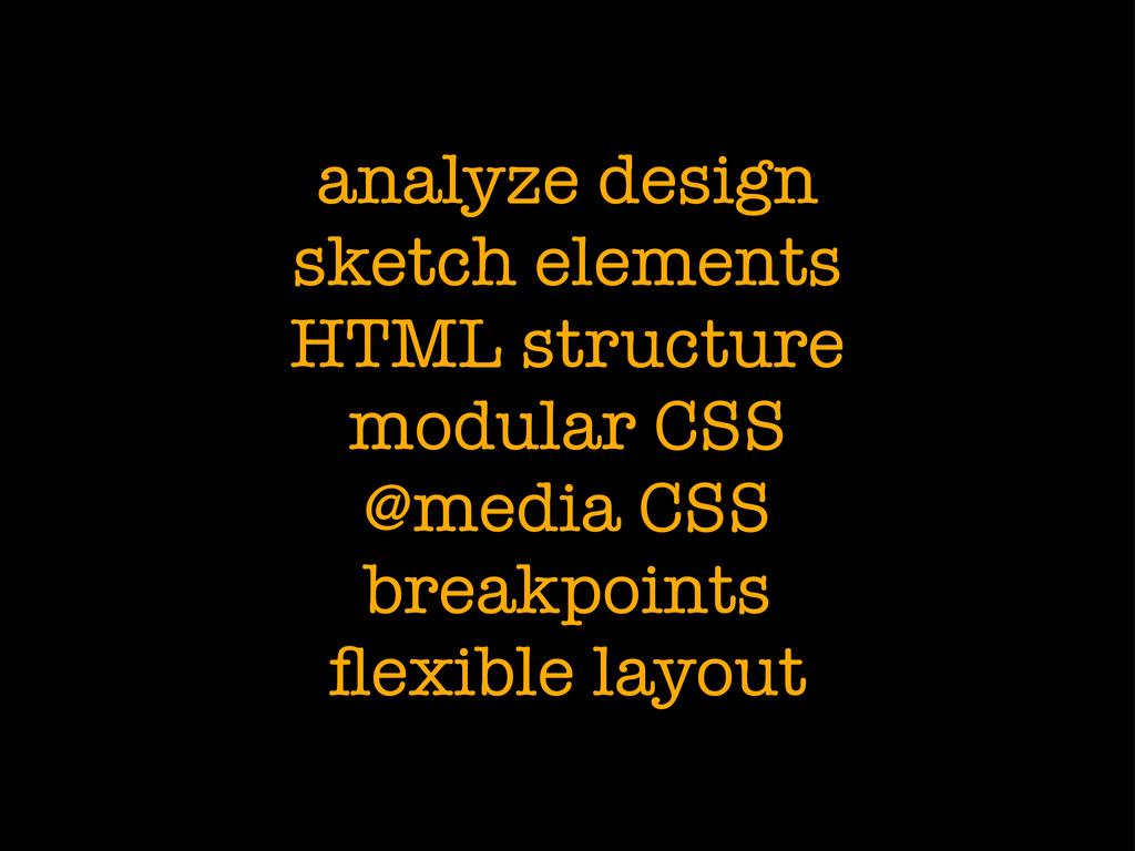 analyze design sketch elements HTML structure m...
