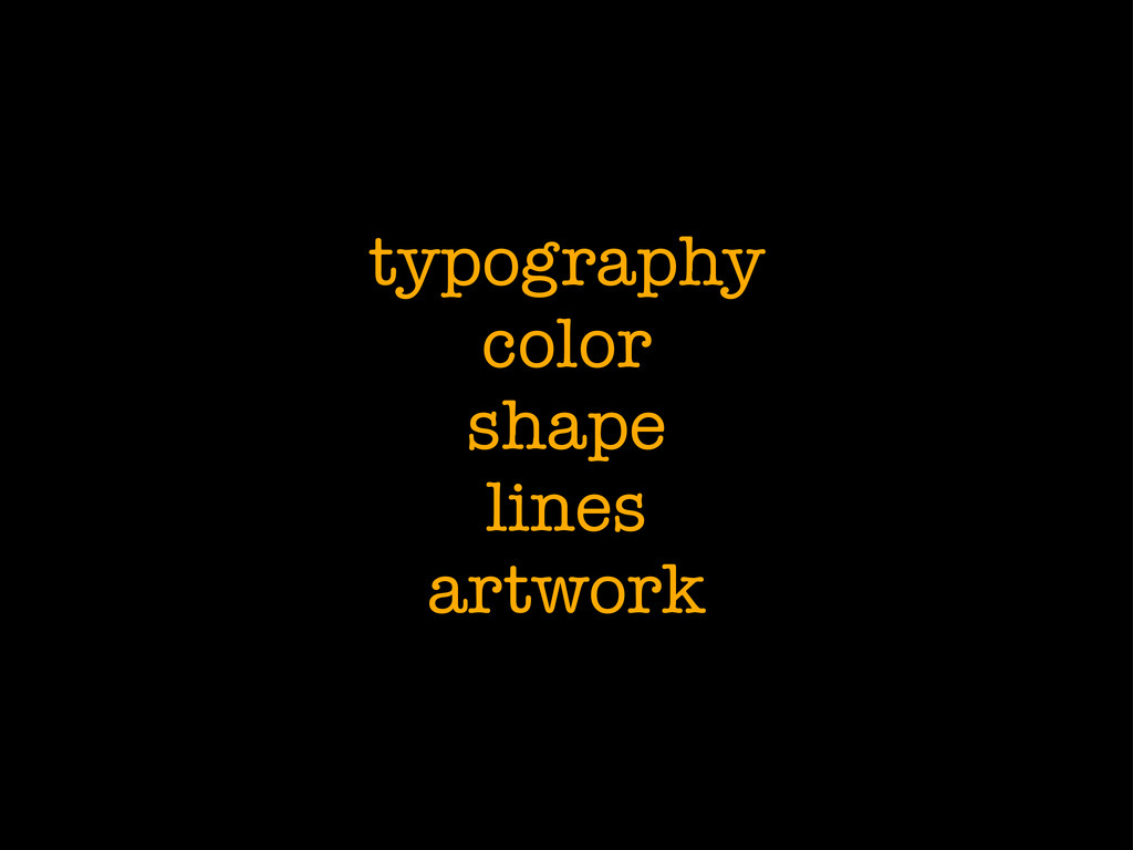 typography color shape lines artwork
