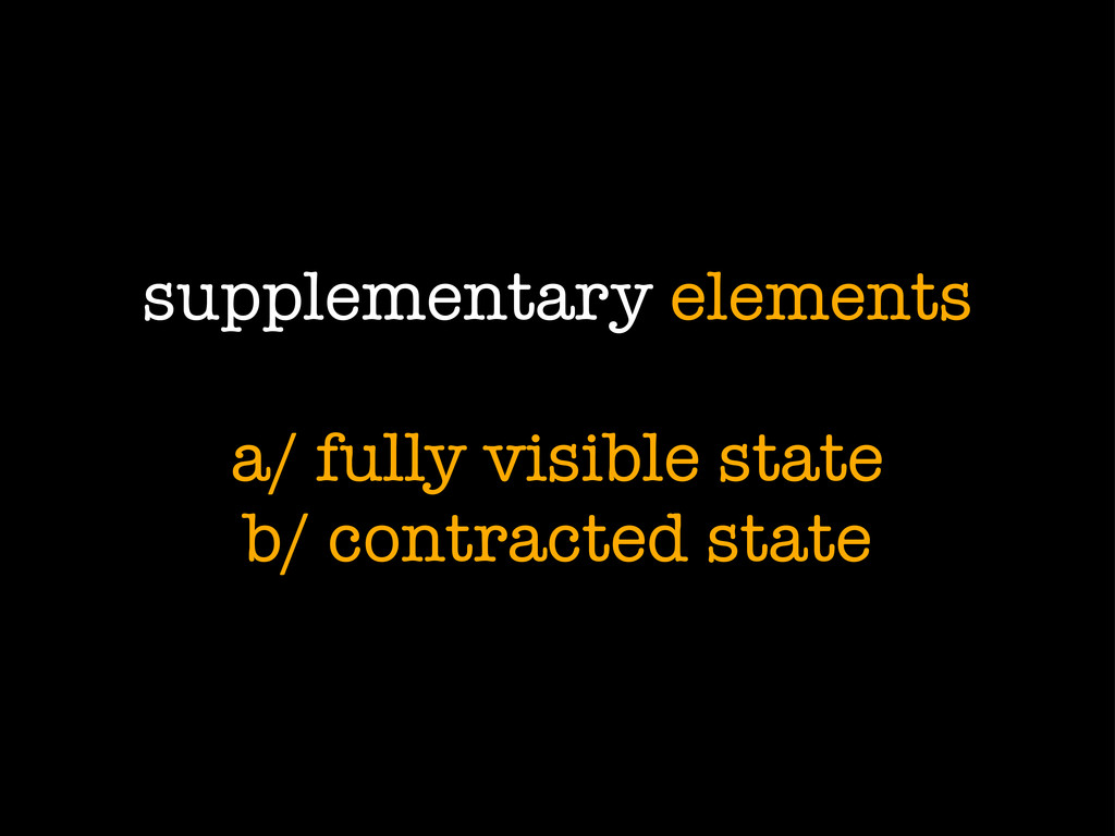 supplementary elements a/ fully visible state b...