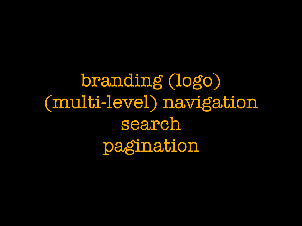 branding (logo) (multi-level) navigation search...