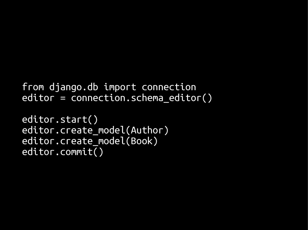 from django.db import connection from django.db...