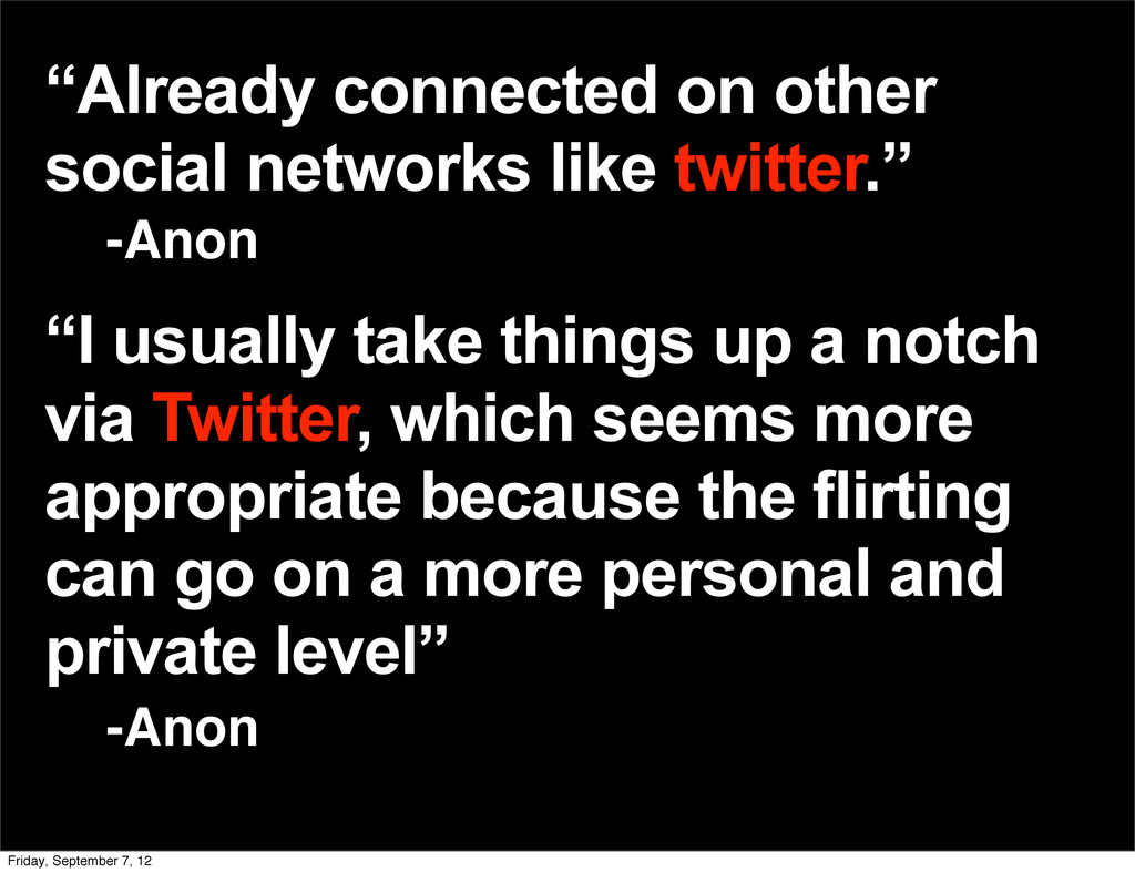 """Already connected on other social networks lik..."