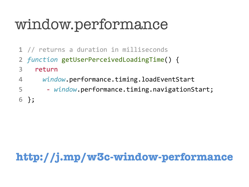 window.performance