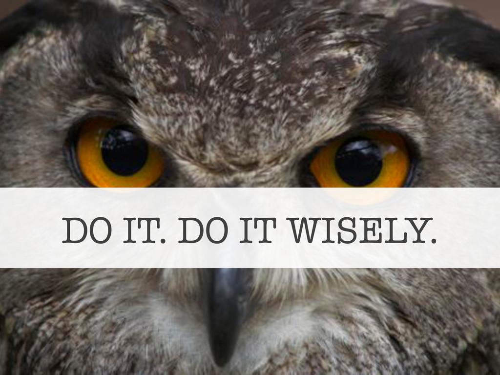 DO IT. DO IT WISELY.