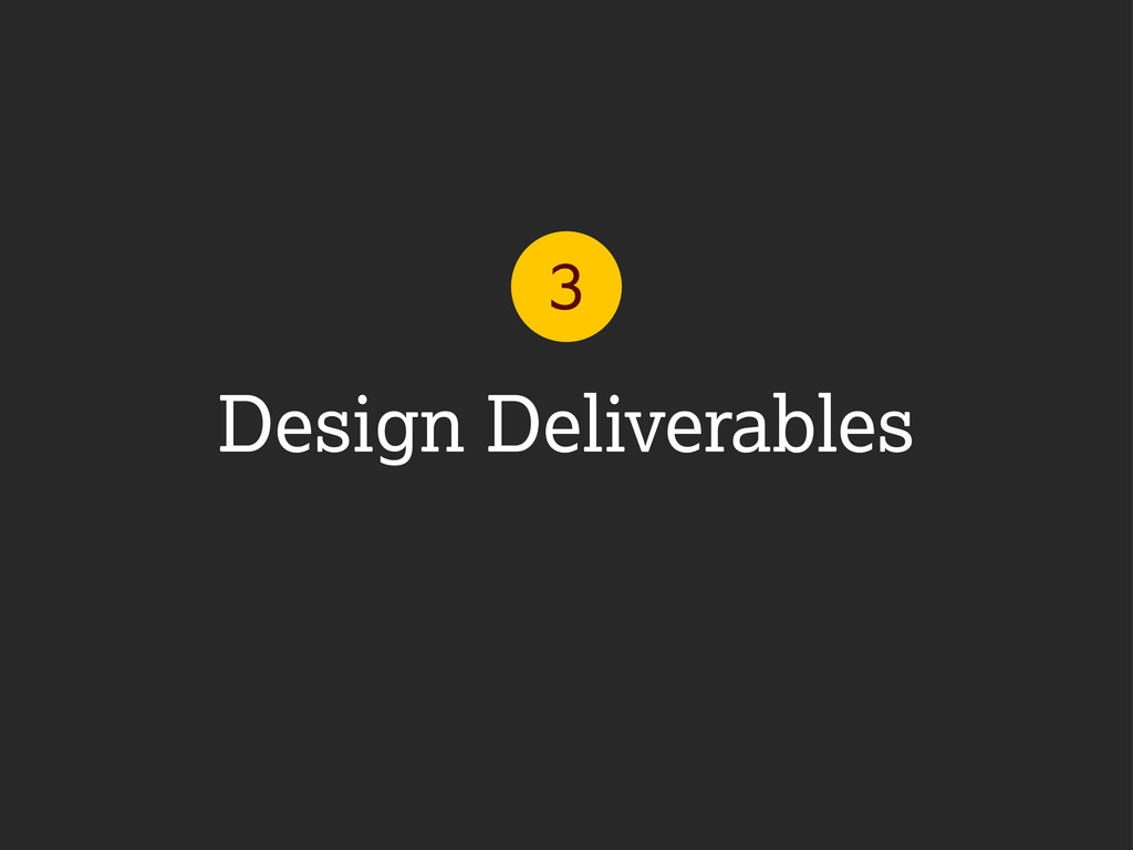 Design Deliverables 3