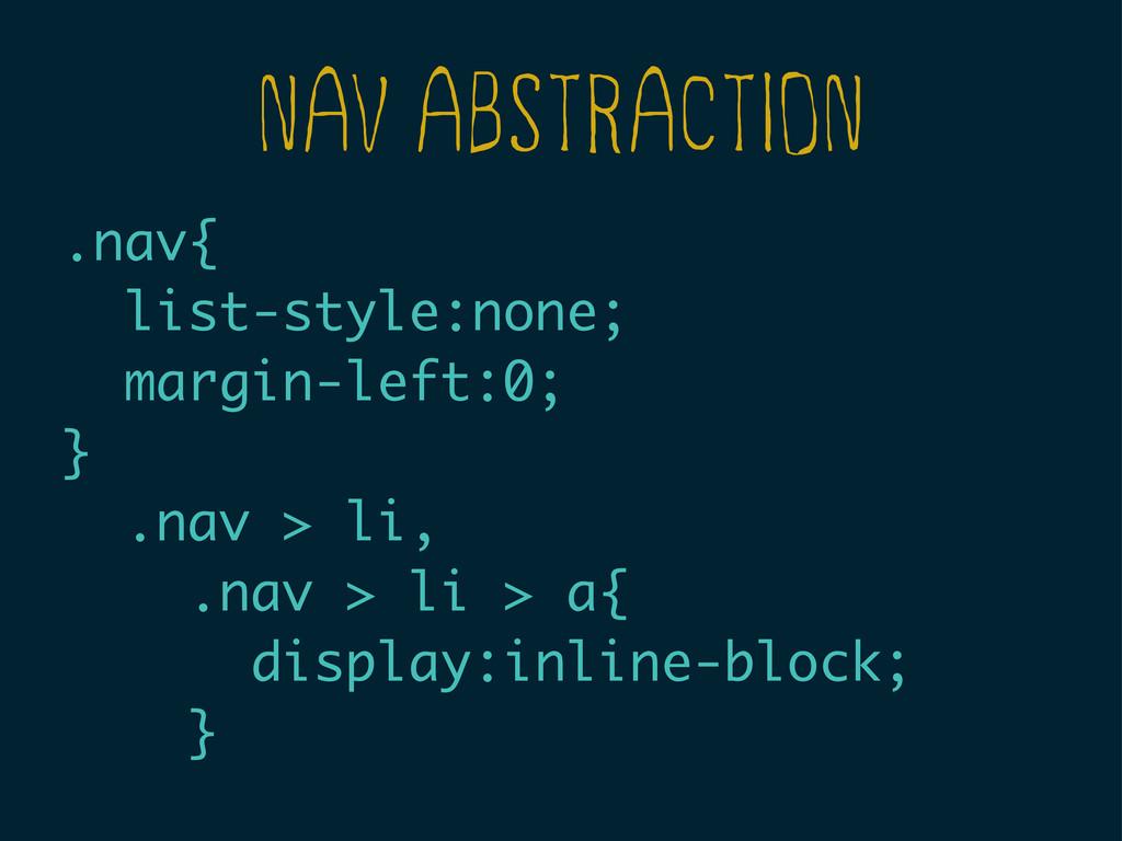 NAV ABSTRACTION .nav{ list-style:none; margin-l...