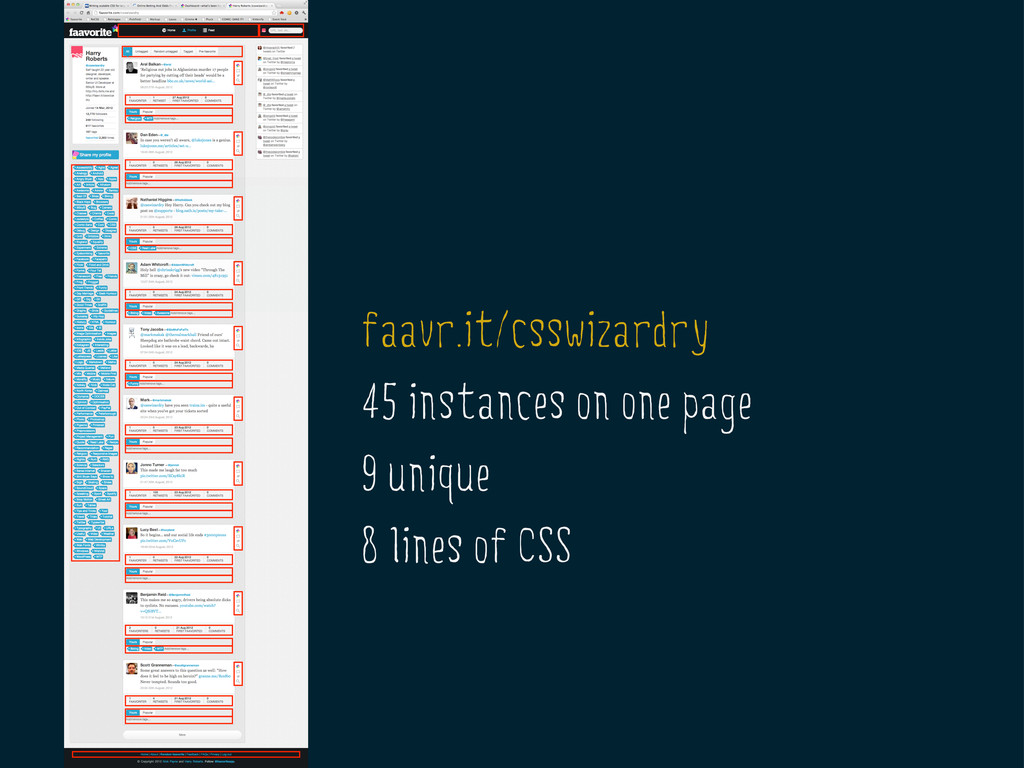 faavr.it/csswizardry 45 instances on one page 9...
