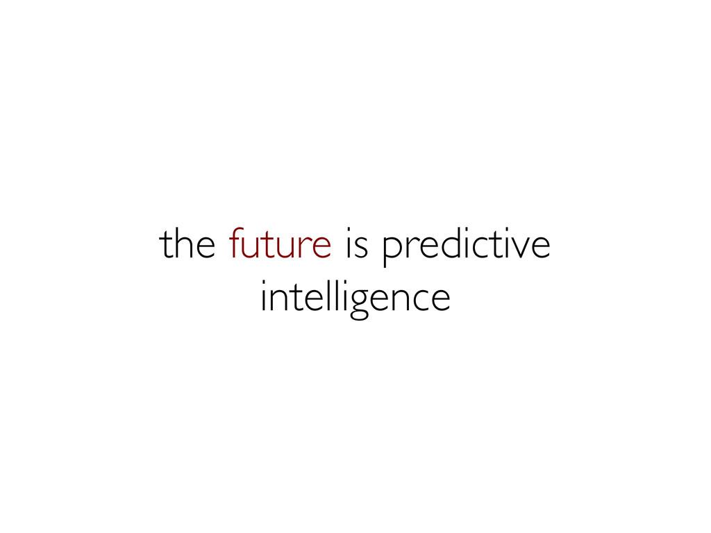 the future is predictive intelligence
