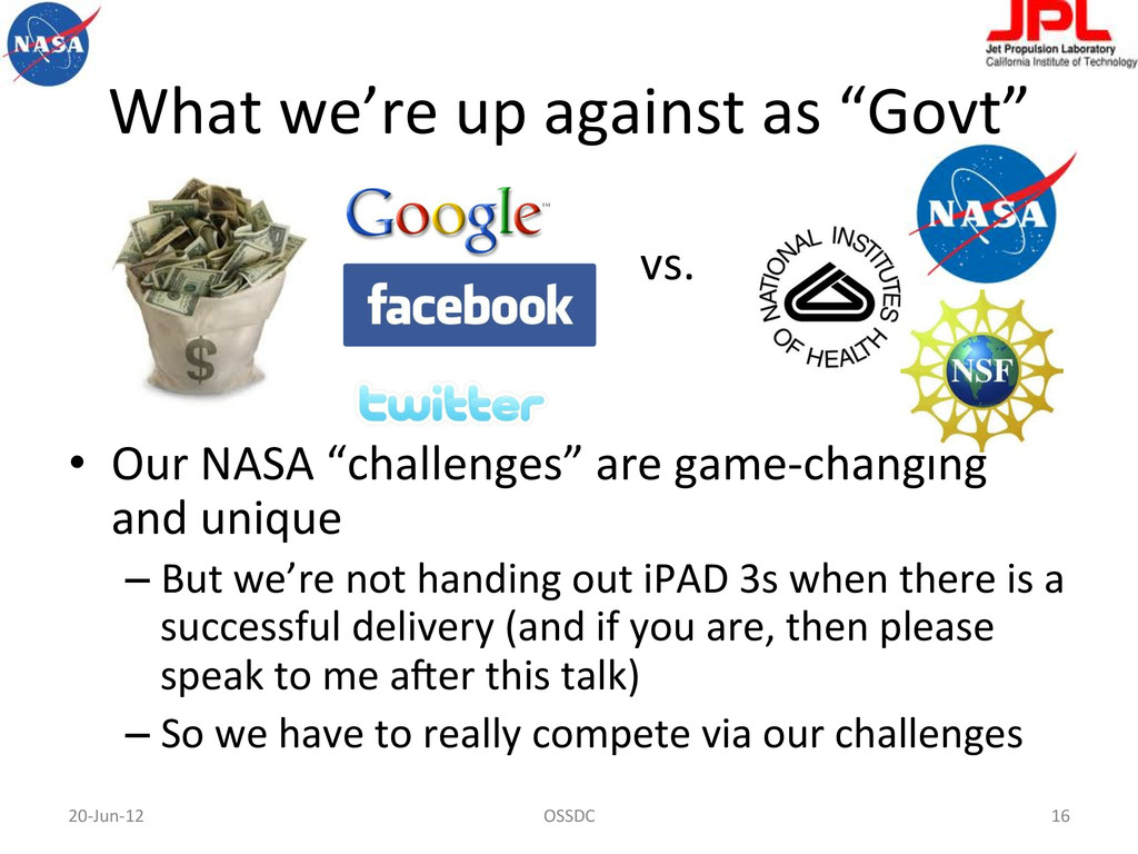 """What we're up against as """"Govt""""..."""