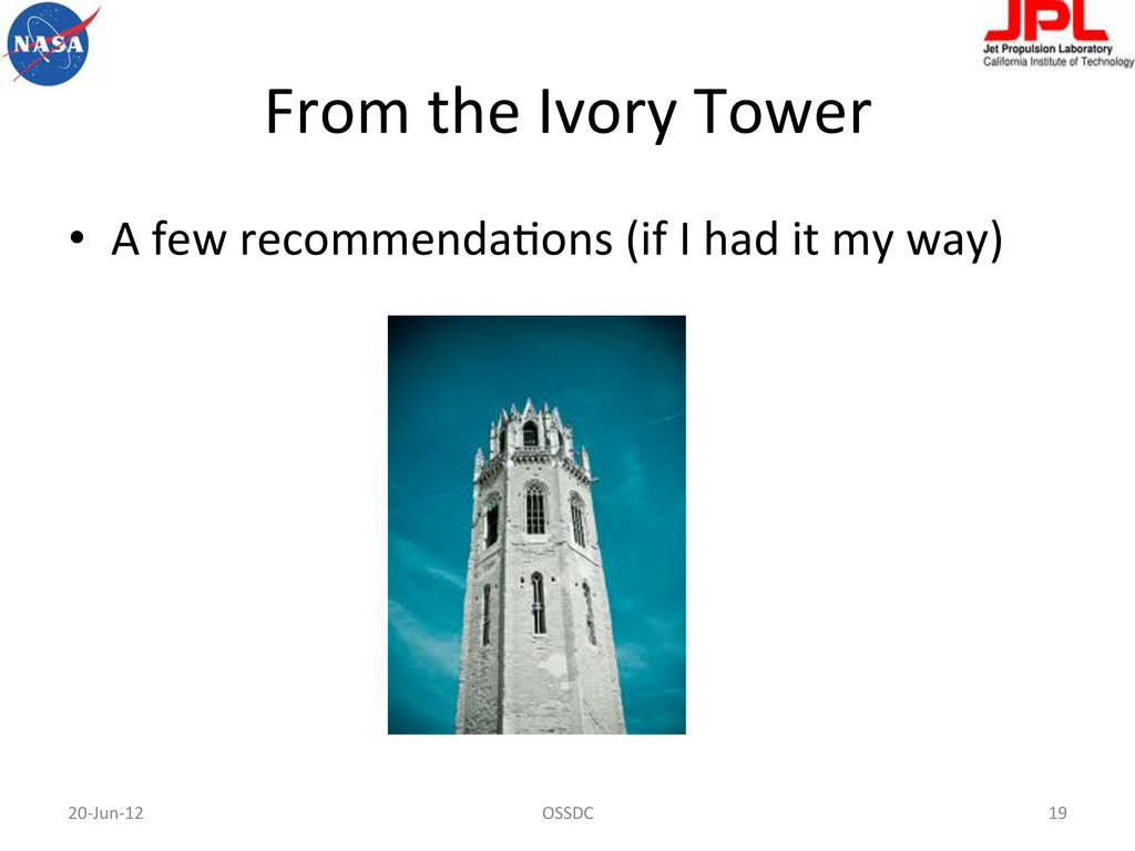 From the Ivory Tower  • A few...