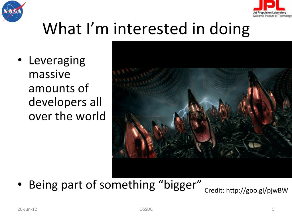 What I'm interested in doing  •...