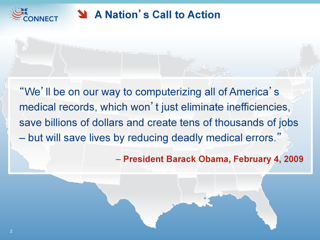 "A Nation's Call to Action ""We'll be on our way ..."