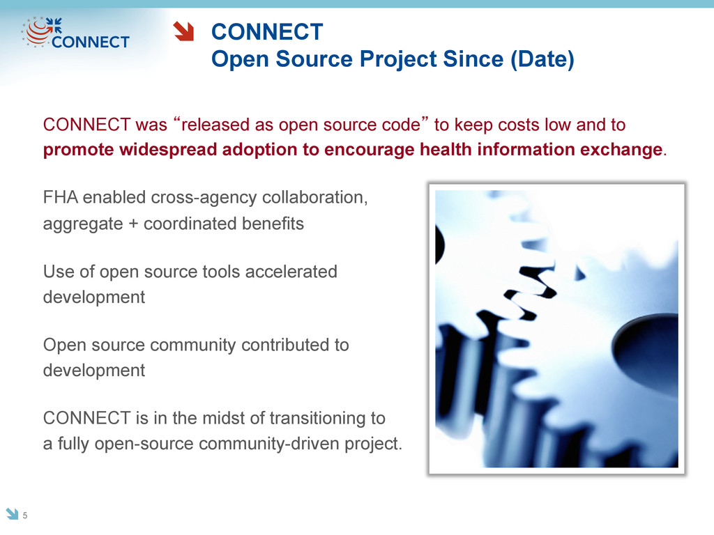 CONNECT Open Source Project Since (Date) CONNEC...