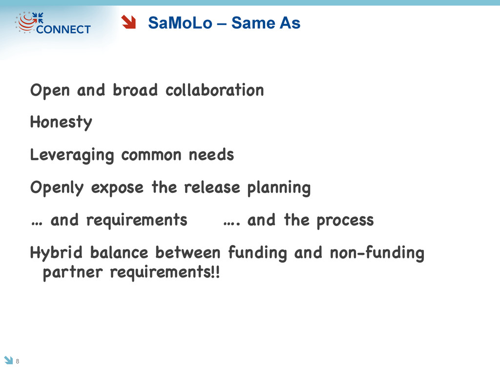 SaMoLo – Same As Open and broad collaboration H...
