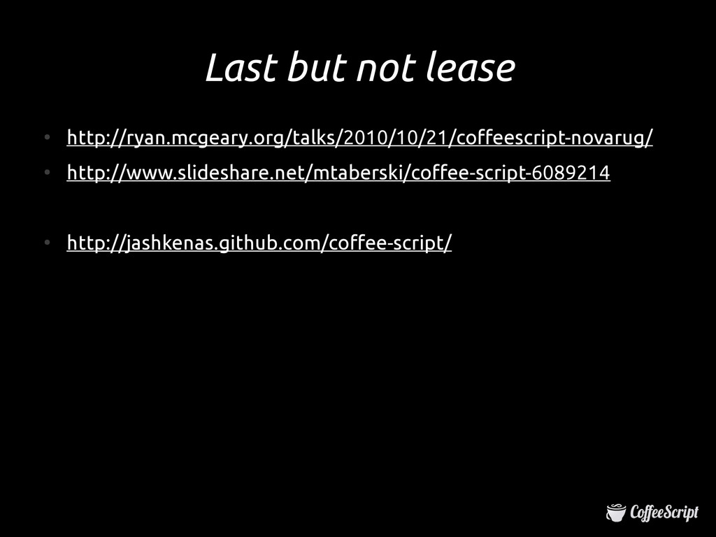 Last but not lease Last but not lease ● http://...