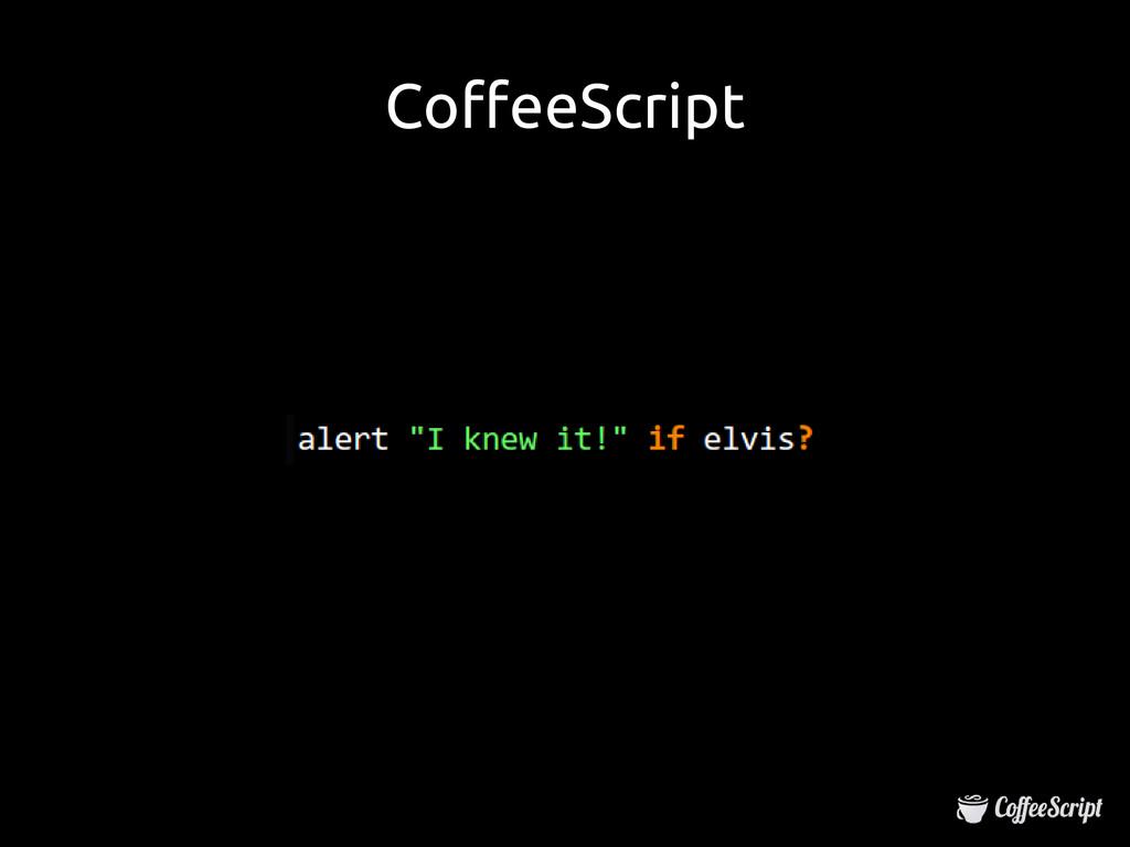 CoffeeScript CoffeeScript