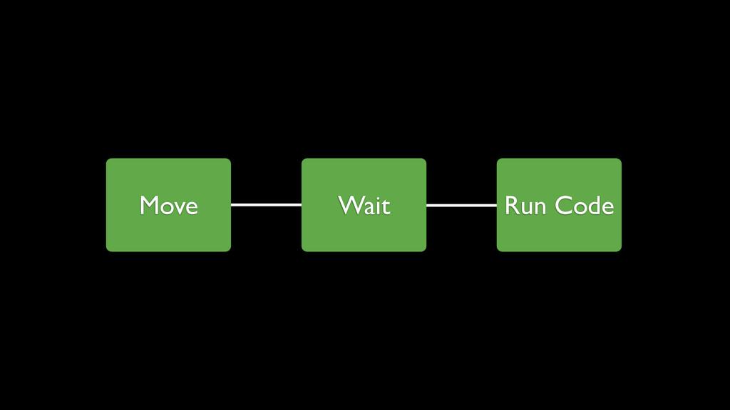 Move Wait Run Code