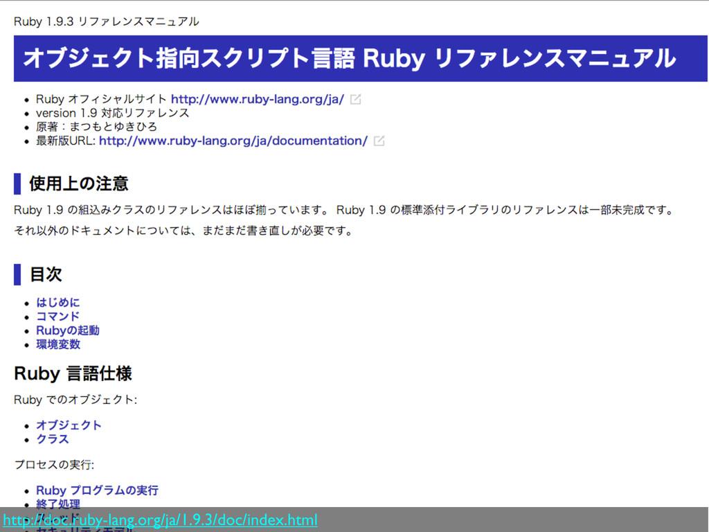 http://doc.ruby-lang.org/ja/1.9.3/doc/index.html