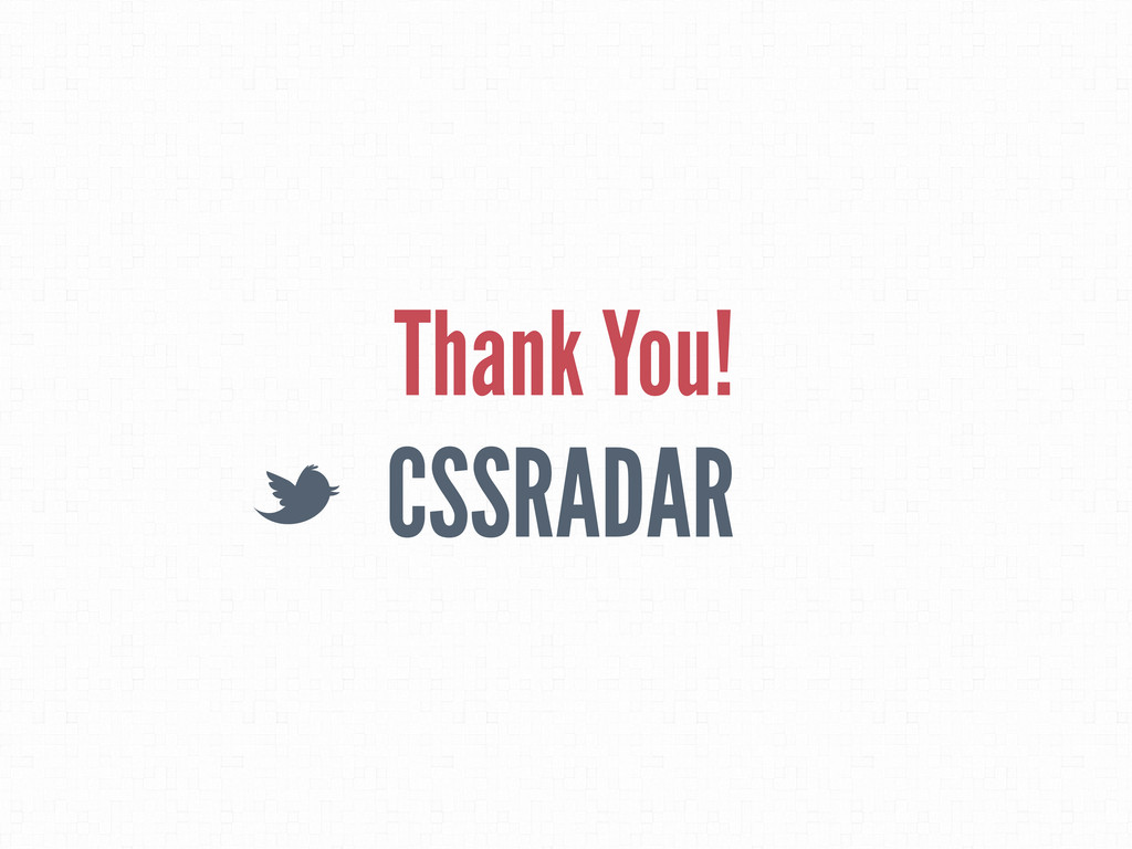 CSSRADAR L Thank You!