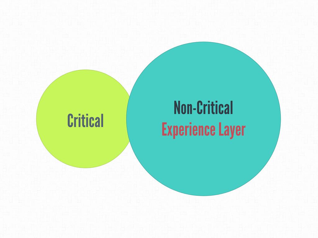 Critical Non-Critical Experience Layer