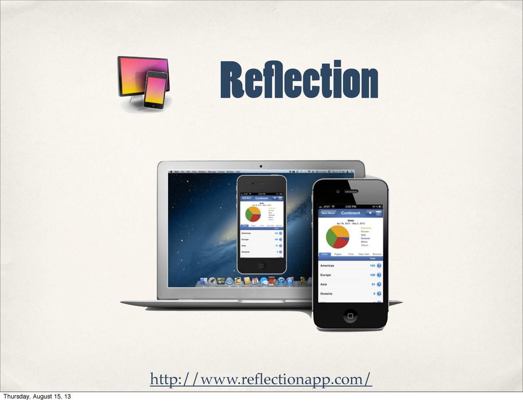 Re ection http://www.reflectionapp.com/ Thursday...
