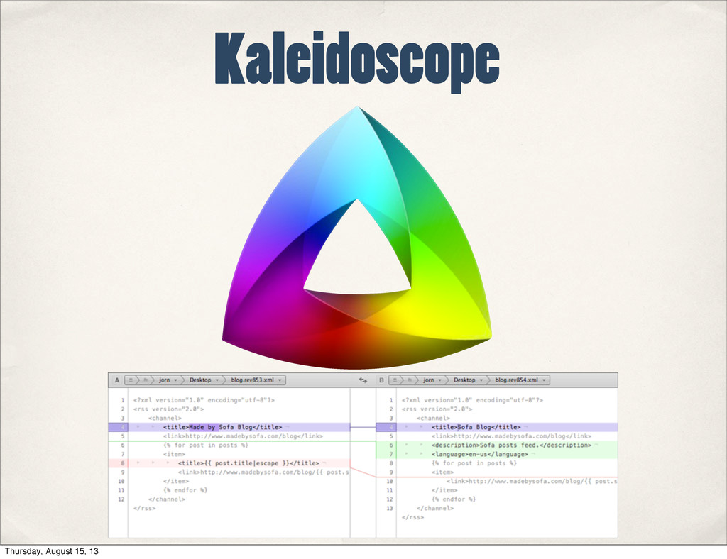Kaleidoscope Thursday, August 15, 13