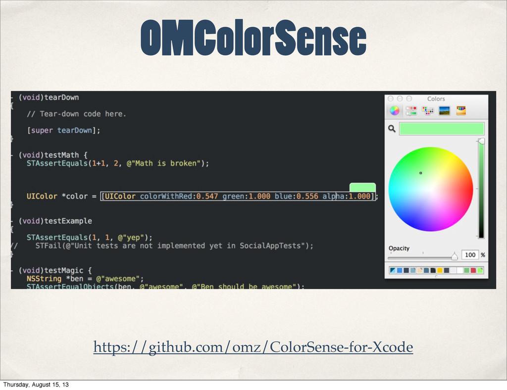 OMColorSense https://github.com/omz/ColorSense-...