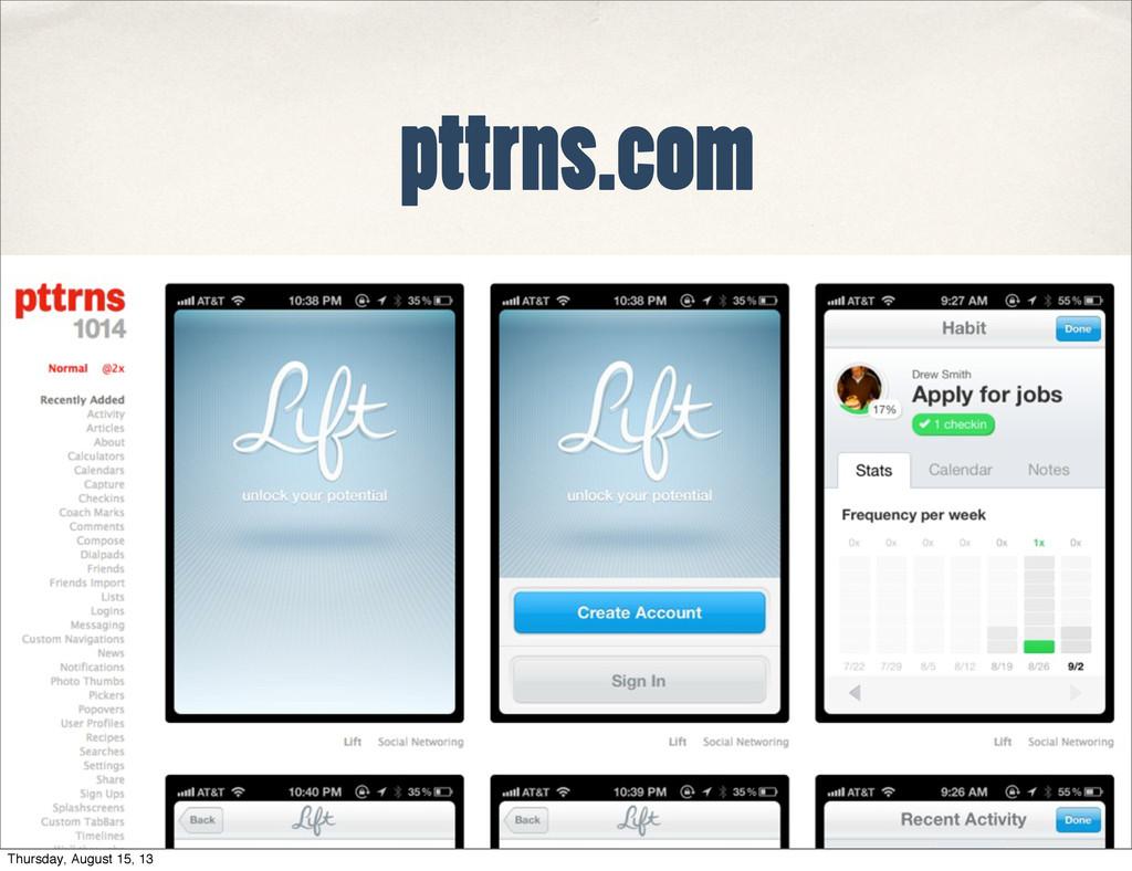 pttrns.com Thursday, August 15, 13