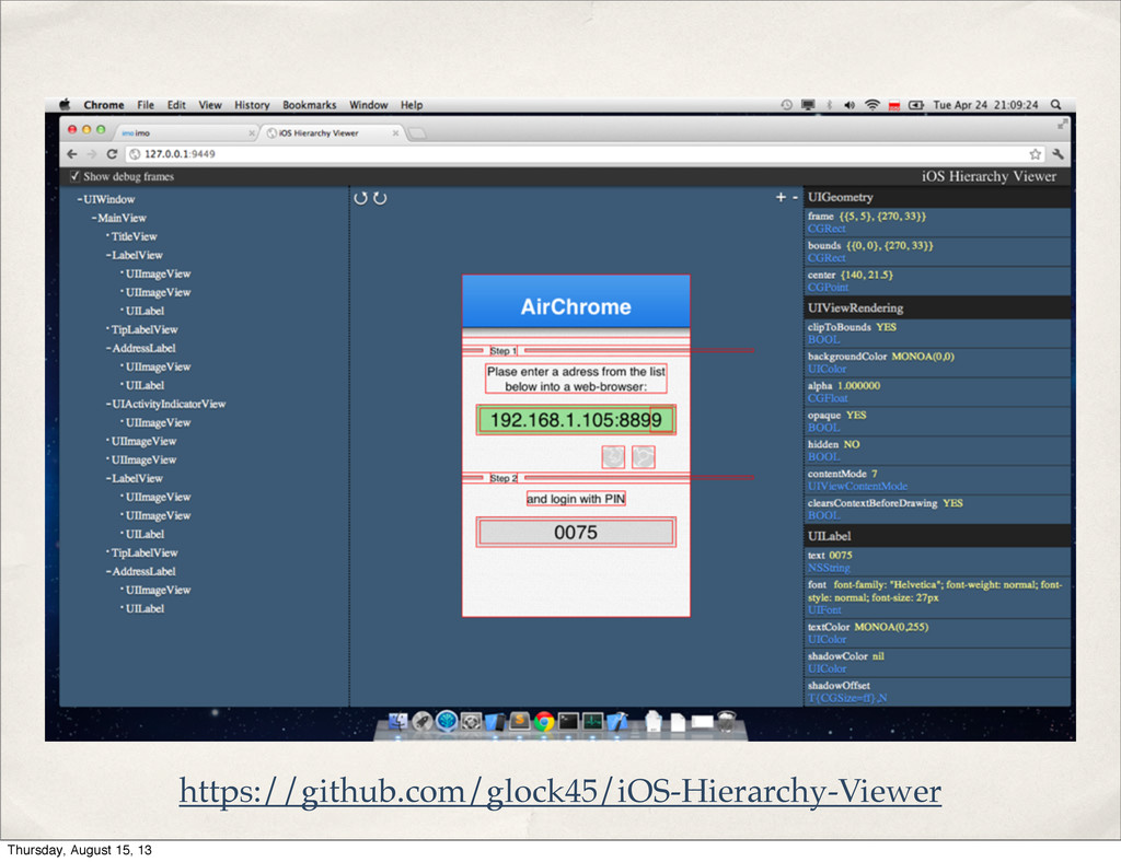 https://github.com/glock45/iOS-Hierarchy-Viewer...
