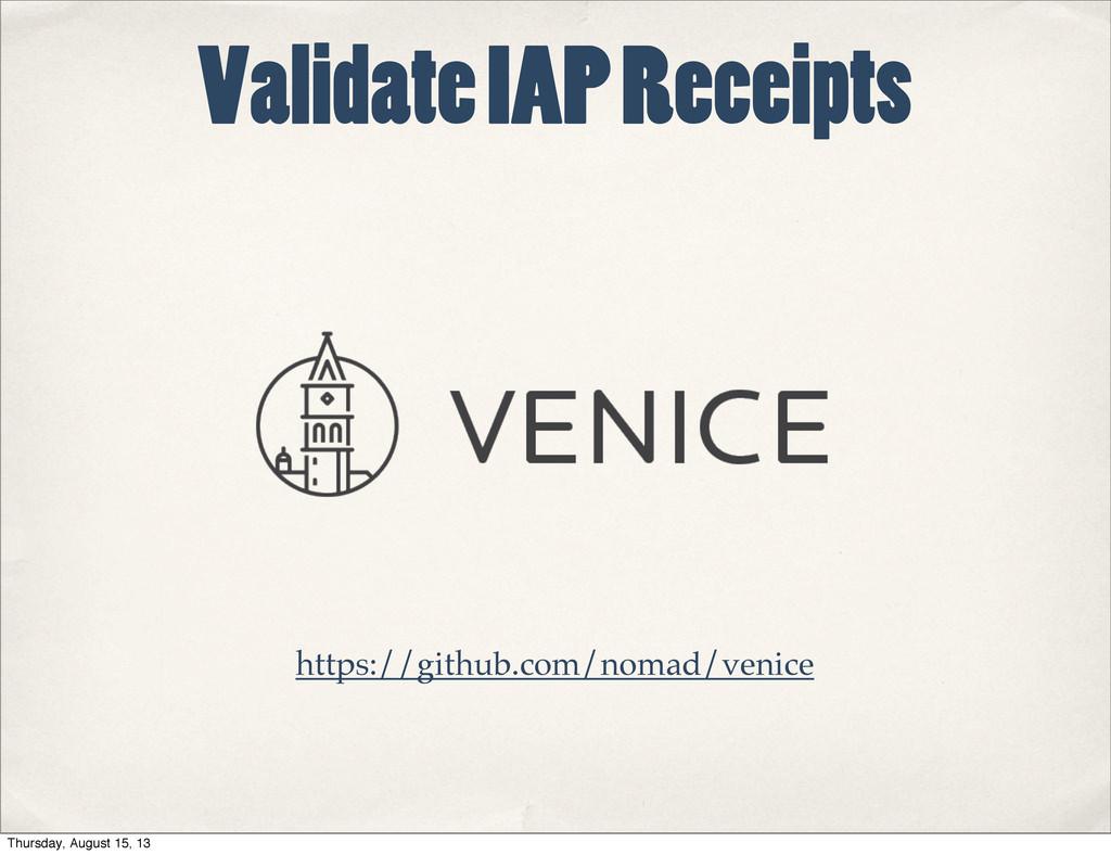 Validate IAP Receipts https://github.com/nomad/...
