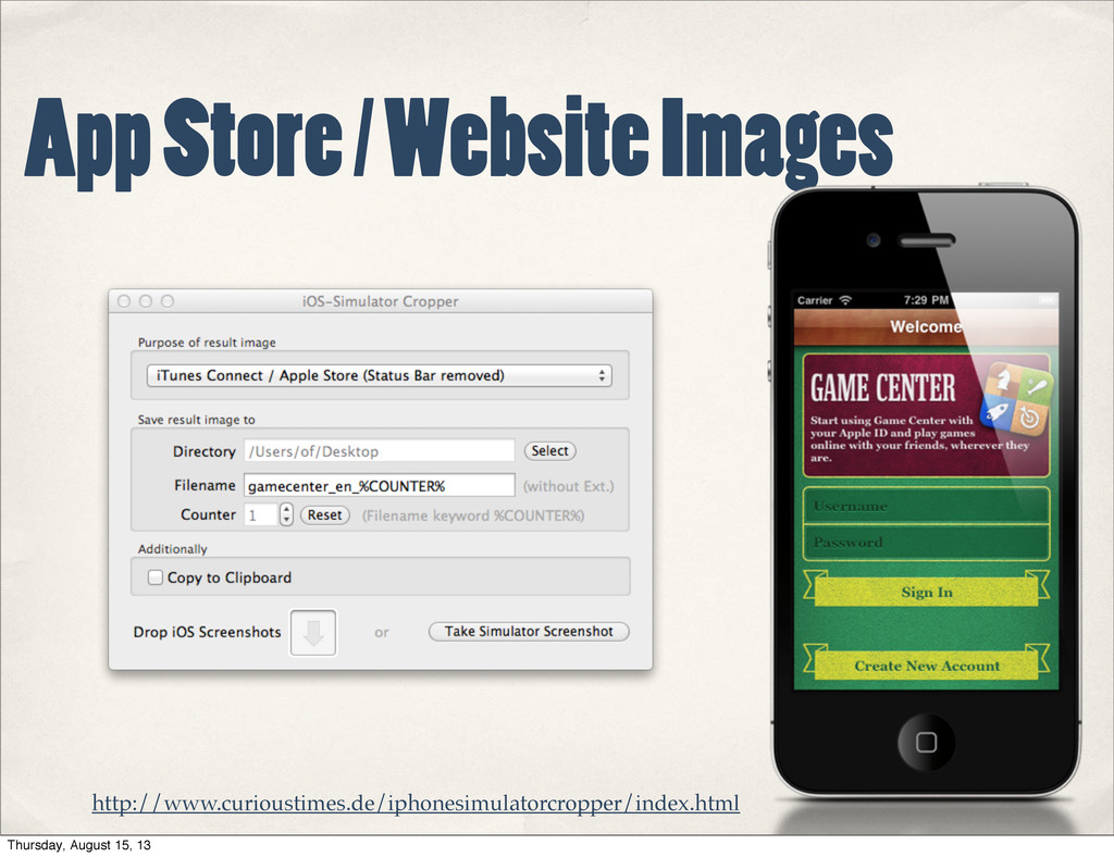 App Store / Website Images http://www.curiousti...