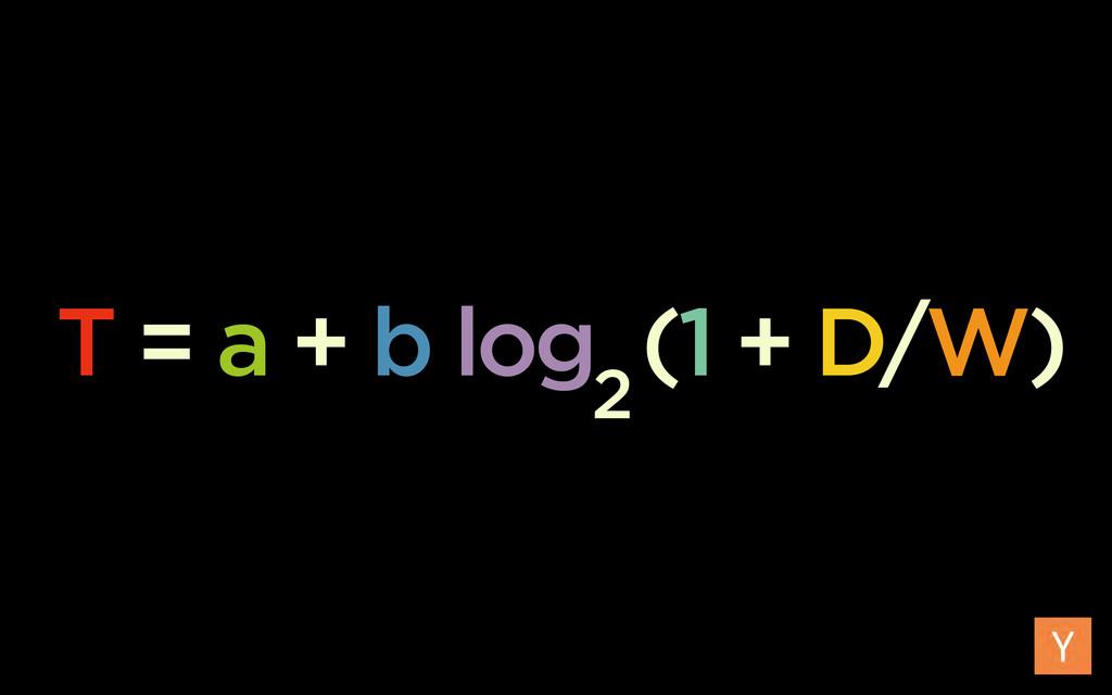 T = a + b log (1 + D/W) 2