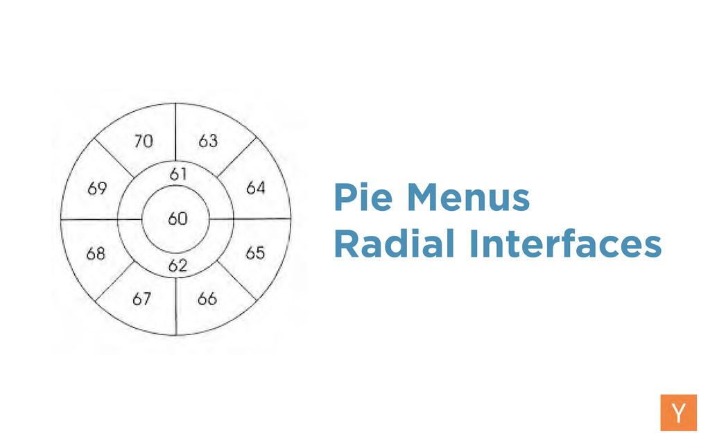 Pie Menus Radial Interfaces