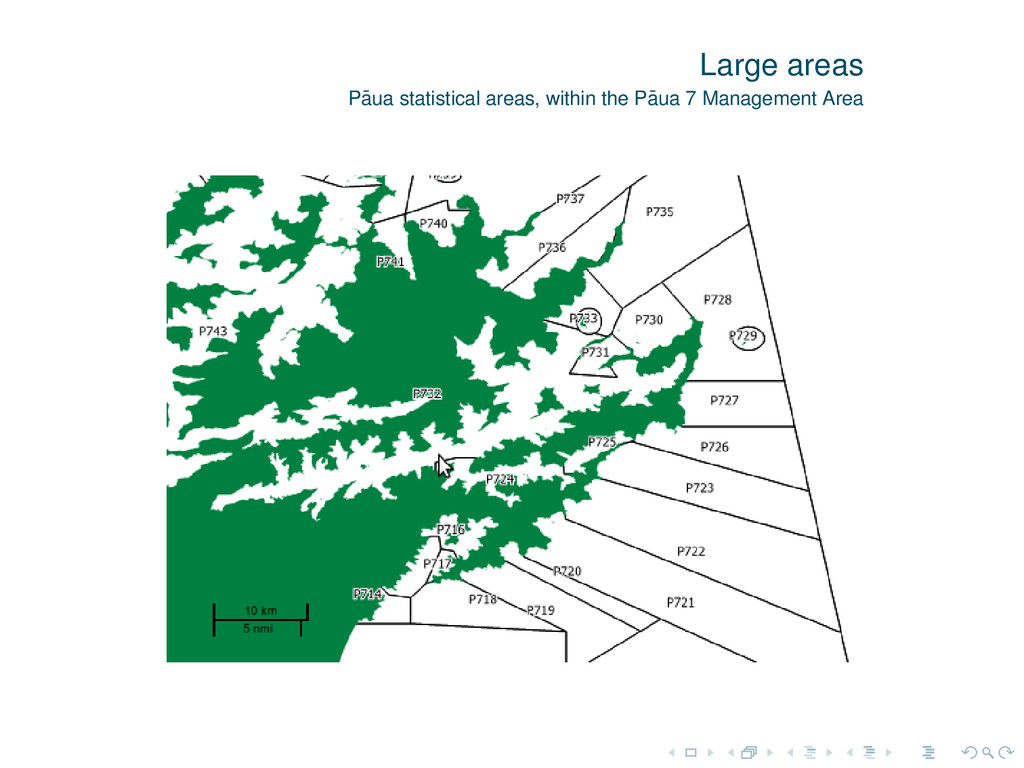 Large areas P¯ aua statistical areas, within th...